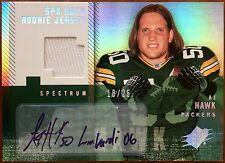 2006 UD Upper Deck SPx Spectrum Lombardi Autograph A.J. AJ Hawk Auto /25 RC GU