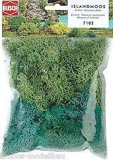 (100g=8,54€) BUSCH 7102 Islandmoos, hell- und dunkelgrün, 35g