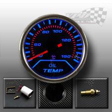 "Oil temp gauge smoked face blue led dial kit 52mm / 2"""
