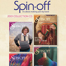 4 Issues on CD: SPIN-OFF MAGAZINE 2001 Spinning Yarn Cashmere Drumcarder Antique