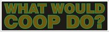"Twin Peaks - What Would Coop Do - Sticker - 2.5"" x 8.5"""