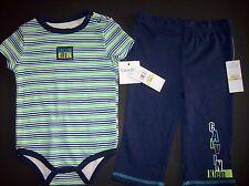 Calvin Klein Outfit 2pc Bodysuit/Pant Set Baby Boy Infant 12 Mos Signature NWT