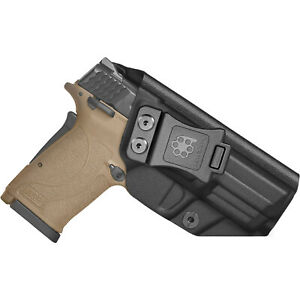 Amberide IWB KYDEX Holster Fit: Smith & Wesson M&P 9mm Shield EZ