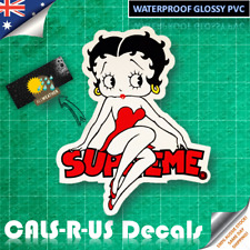 Betty Boop Supreme Glossy Waterpoof Sticker Decal Car Laptop Luggage Skateboard