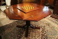 Table à jeu à plateau déployant modulable en acajou