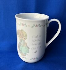 """1989 Precious Moments Collection """"That's What Friends are For """" Coffee Cup Mug"""