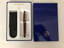 Waterman Expert II Burgundy Fine Fountain Pen with leather case