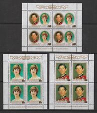 1981 Royal Wedding Charles & Diana MNH Stamps Aitutaki Stamp Sheets SG 391-393