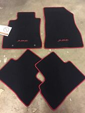 NEW OEM NISSAN JUKE BLACK CARPET MATS WITH RED ACCENT PIPING