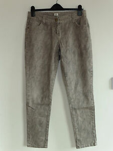 Gorgeous Beige Snakeskin Effect Skinny Jeans from F&F - Size 12  - Great Cond.