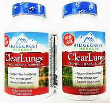 Ridgecrest Herbals ClearLungs Capsules 60 Count