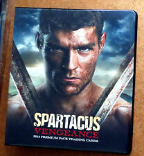 Starz Spartacus Vengeance Trading Card Binder  + P2 PROMO CARD Liam McIntyre