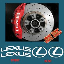 HIGH TEMP LEXUS BRAKE CALIPER DECAL STICKER SET X4 MOTORSPORT RALLY DRIFT