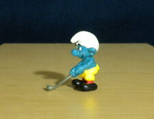 Smurfs Golfer Smurf Golfing Figure Vintage Toy PVC Figurine Golf Ball Club 20055