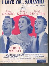 I Love You Samantha High Society Bing Crosby Grace Kelly Sinatra Sheet music