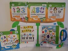 LeapFrog LeapStart Learning System with 4 Books! Used level 1 preschool BABY ANI