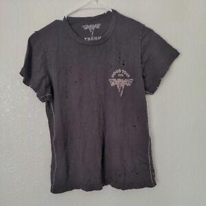 Van Halen World Tour 1978 by Trunk LTD for Free People Women's Shirt Distressed