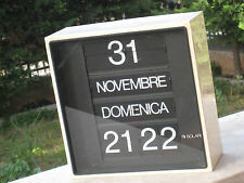 ORIGINAL VINTAGE Orologio Fratelli Solari Udine FUNZIONANTE BIANCO ANNI 70