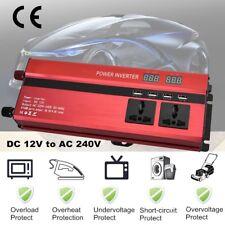 3000W 6000W 12V to 240V Car Power Converter Inverter Charger 4USB Digital LCD FN