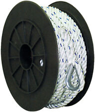 5/8 Inch x 200 Ft Premium Three Strand Twisted Nylon Anchor Line for Boats