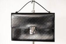 Louis Vuitton black patent leather logo 2pc pouch clutch handbag purse NEW $1600
