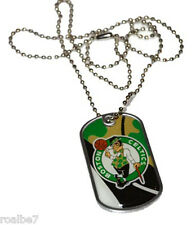 NBA Boston Celtics Dog Sports Collegiate Team Logo Tag Domed Necklace Charm Chai