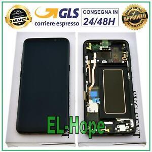 DISPLAY LCD + FRAME ORIGINALE SAMSUNG GALAXY S8 SM-G950 G950 F TOUCH SCREEN NERO