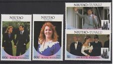 1986 Royal Wedding Prince Andrew & Sarah MNH Stamp Set Tuvalu Niutao