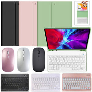 """Bluetooth Keyboard Leather Case+Mouse For New iPad Air 4th Generation 10.9"""" 2020"""