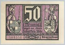 Notgeld - Stadt Schalkau - 50 Pfennig - 1921 - Motiv 4: Schwertkampf