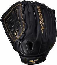 "Mizuno MVP Prime Fastpitch Softball Left Handed Glove 12"" Black Gold 312458"