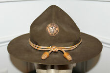 Original Early WW2 U.S. Army Soldiers Campaign Hat w/Signal Corps Cord & Acorns