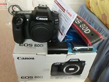 Canon 80D(W) body with 3 batteries, charger, strap - Boxed & well-cared for