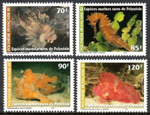 French Polynesia 750-753, MNH. Marine Life, 1999