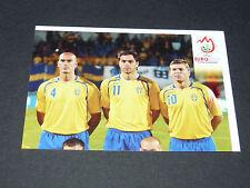 N°386 EQUIPE TEAM P2 SUEDE SVERIGE PANINI FOOTBALL UEFA EURO 2008