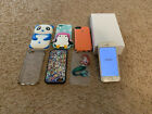 iPhone 5s 16GB Unlocked Factory Reset With Box, 6 Cases, 2 Sim Cards