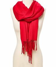 Pashmina Cashmere Scarf Shawl Wrap Solid Stole Silk Soft Women Men Wool Blanket