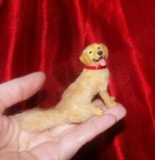 Golden retriever dog Handsculpted OOAK 1:12 realistic dollhouse miniature IGMA