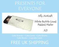50 x Jiffy Airkraft White Bubble Lined Postal Padded Mailing Bags JL3 F/3