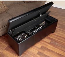 Gun Cabinet Hidden Storage Bench Concealed Weapon Locked Gun Safe Rustic Rifles
