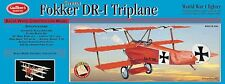 Balsa Wood Model Airplane Kit Guillow's Fokker DR-1 Triplane   GUI-204