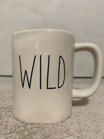 Rae Dunn Coffee Mug WILD Ivory Black Large Letters Artisan Collection by Magenta