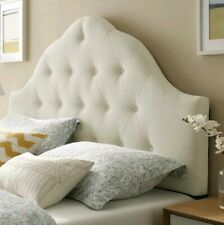Sovereign Queen Fabric Headboard in Ivory