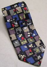 Disney Mickey Mouse Neck Tie Red Polyester Black Checkered Balancine Tie Works