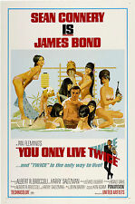 007 SI VIVE SOLO DUE VOLTE YOU ONLY LIVE TWICE MANIFESTO JAMES BOND SEAN CONNERY