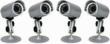 4 x Weatherproor IR CCTV Cameras with mounting bracket - BULK Package