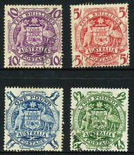 Australian 1949 Coat of Arms, set of 4, used