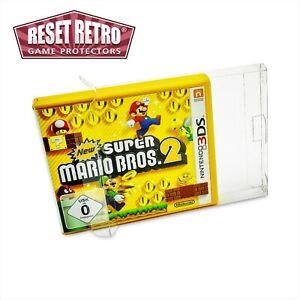 10 x Klarsicht Schutzhüllen für Nintendo 3DS Spiele Verpackung OVP 0,3 mm PET