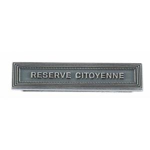 Agrafe RESERVE CITOYENNE Médaille RESERVISTES VOLONTAIRES ET SECURITE INTERIEURE
