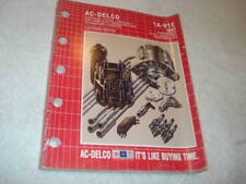 Delco Starters, Alternators, Ignition, Switches, Wire, Spark Plugs, PCV-1992